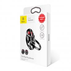 Держатель-кольцо Baseus wheel Ring Bracket, черный, фото 3