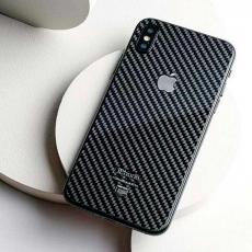 Карбоновое стекло Jumo Carbon Glass на iPhone X, никель с посеребрением, фото 1