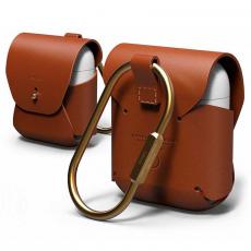 Кожаный чехол Elago для AirPods, коричневый, фото 1