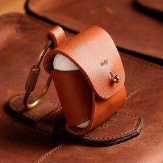 Кожаный чехол Elago для AirPods, коричневый, фото 3