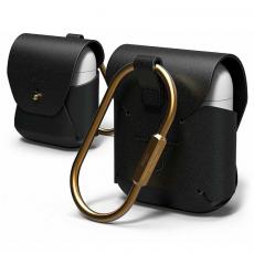 Кожаный чехол Elago для AirPods, черный, фото 1