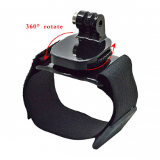 Крепление 360° Rotation Wrist Strap Mount with Screw для GoPro Hero, черное, фото 1