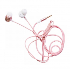Наушники вакуумные Rock Y2 Stereo Earphone, розовое золото, фото 1