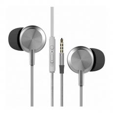 Наушники вакуумные Rock Y2 Stereo Earphone, серебристые, фото 1