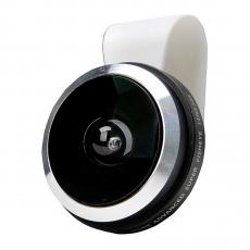 Объектив Universal Fisheye для iPhone, широкоугольный, белый, фото 1