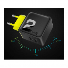 СЗУ Rock Sugar Travel Charger 2 USB, 2.4A, черное, фото 3