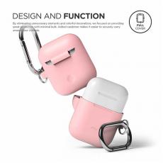 Силиконовый чехол Elago Hang для AirPods, розовый, фото 3