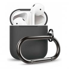 Силиконовый чехол Elago Hang для AirPods, темно-серый, фото 1