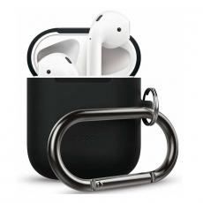 Силиконовый чехол Elago Hang для AirPods, черный, фото 1