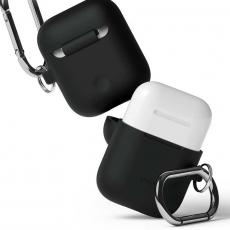 Силиконовый чехол Elago Hang для AirPods, черный, фото 2