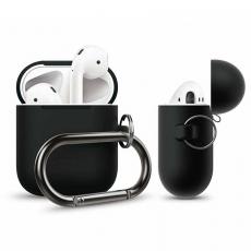Силиконовый чехол Elago Hang для AirPods, черный, фото 3