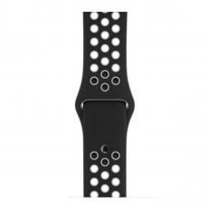 Спортивный ремешок Nike для Apple Watch 42 mm, чёрный/белый, фото 2