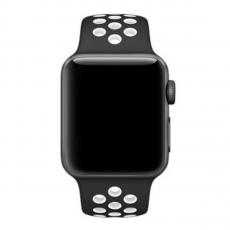 Спортивный ремешок Nike для Apple Watch 42 mm, чёрный/белый, фото 3