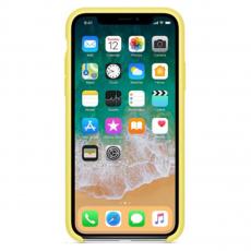 Чехол силиконовый Apple для iPhone X, холодный лимонад, фото 3