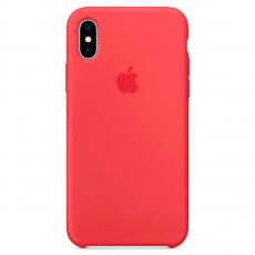 Чехол Apple силиконовый для iPhone X, «спелая малина», фото 1