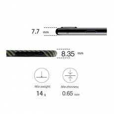 Чехол Pitaka MagCase для Apple iPhone X, черный/желтый, фото 5