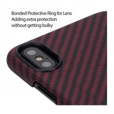 Чехол Pitaka MagCase для Apple iPhone X, черный/красный, фото 5