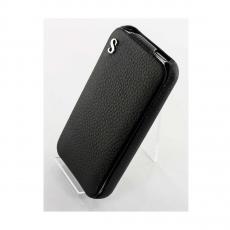 Чехол SGP Leather Case illuzion Series для iPhone 4/4s, черный, фото 1