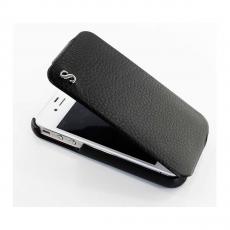 Чехол SGP Leather Case illuzion Series для iPhone 4/4s, черный, фото 2