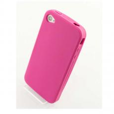Чехол Silicon Solid Soft protect case для iPhone 4 и 4s, розовый, фото 1