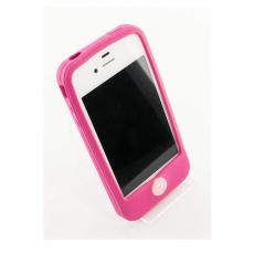 Чехол Silicon Solid Soft protect case для iPhone 4 и 4s, розовый, фото 2