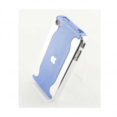 Чехол Silver Side hard для iPhone 4 и 4s, голубой с серебристой окантовкой, фото 1