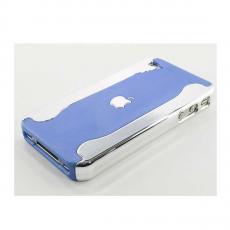 Чехол Silver Side hard для iPhone 4 и 4s, голубой с серебристой окантовкой, фото 2