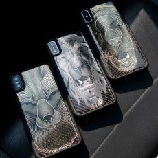 """Эксклюзивный чехол Jumo Case для iPhone X, карбон и никель, """"Звери"""", фото 1"""