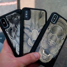 """Эксклюзивный чехол Jumo Case для iPhone X, карбон и никель, """"Звери"""", фото 2"""