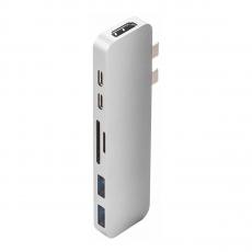 Хаб HyperDrive, с USB-C, серебристый, фото 1