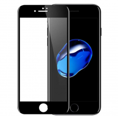 Защитное стекло 2,5D 9H для iPhone 7/8 Plus, черное, фото 1