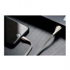 Кабель Rock Metal, с USB-A на Lightning, 1 метр, серебристый, фото 2