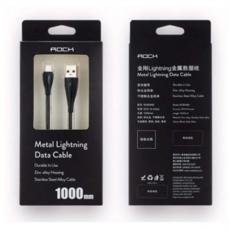 Кабель Rock Metal, с USB-A на Lightning, 1 метр, чёрный, фото 4