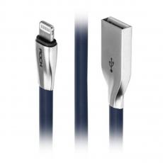 Кабель Rock Salmon, с USB-A на Lightning, 1 метр, синий, фото 2