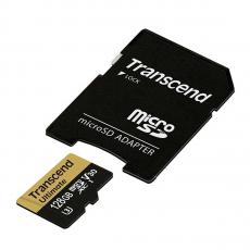 Карта памяти Transcend Ultimate micro SDXC, 64 Гб, Class 10 U3 UHS-I, с адаптером, фото 2