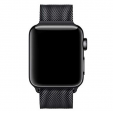 Миланский сетчатый браслет для Apple Watch 38 мм, чёрный, фото 3