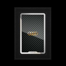 """Обложка для паспорта Jumo, натуральная кожа, никель с позолотой 24K, """"Audi"""", фото 1"""