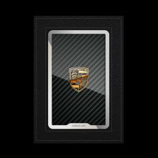 """Обложка для паспорта Jumo, натуральная кожа, никель с позолотой 24K, """"Porsche"""", фото 1"""