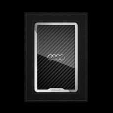"""Обложка для паспорта Jumo, натуральная кожа, никель с посеребрением, """"Audi"""", фото 1"""