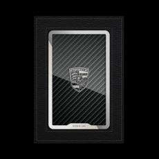 """Обложка для паспорта Jumo, натуральная кожа, никель с посеребрением, """"Porsche"""", фото 1"""