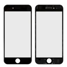 Переднее стекло с рамкой для iPhone 6, полный ремкомплект, холодное склеивание, оригинал, черный, фото 1