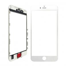 Переднее стекло с рамкой для iPhone 7 Plus, полный ремкомплект, холодное склеивание, оригинал, белый, фото 1
