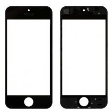 Переднее стекло с рамкой для iPhone 5S/SE, полный ремкомплект, холодное склеивание, оригинал, черный, фото 1