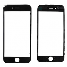 Переднее стекло с рамкой для iPhone 6S Plus, полный ремкомплект, холодное склеивание, оригинал, черный, фото 1