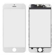 Переднее стекло с рамкой для iPhone 6 Plus, полный ремкомплект, холодное склеивание, оригинал, белый, фото 1
