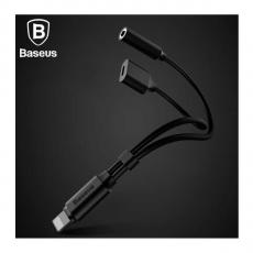 Переходник Baseus L35 C-simple, с Lightning на AUX и Lightning, чёрный, фото 3
