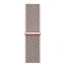 Ремешок из плетёного нейлона для Apple Watch 38 мм, розовый песок, фото 3