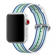 Ремешок из плетёного нейлона для Apple Watch 42 мм, синяя полоска, фото 1