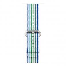 Ремешок из плетёного нейлона для Apple Watch 42 мм, синяя полоска, фото 2