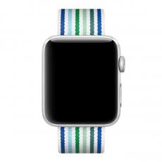 Ремешок из плетёного нейлона для Apple Watch 42 мм, синяя полоска, фото 3